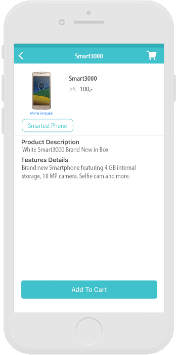 Order products inside the app